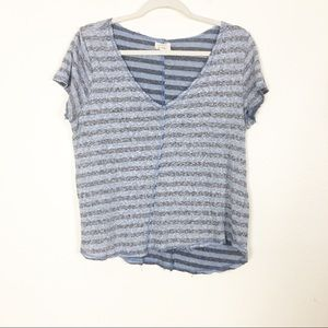 Project Social T | UO Blue & Grey Short Sleeve Top